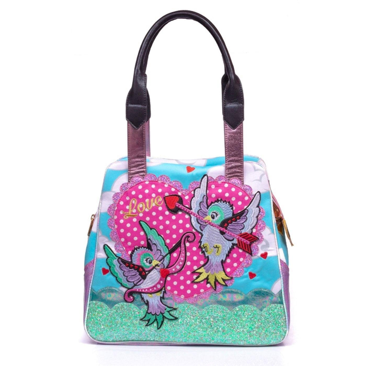 CUPID IRREGULAR CHOICE VINTAGE 50S BIRD BAG BLUE