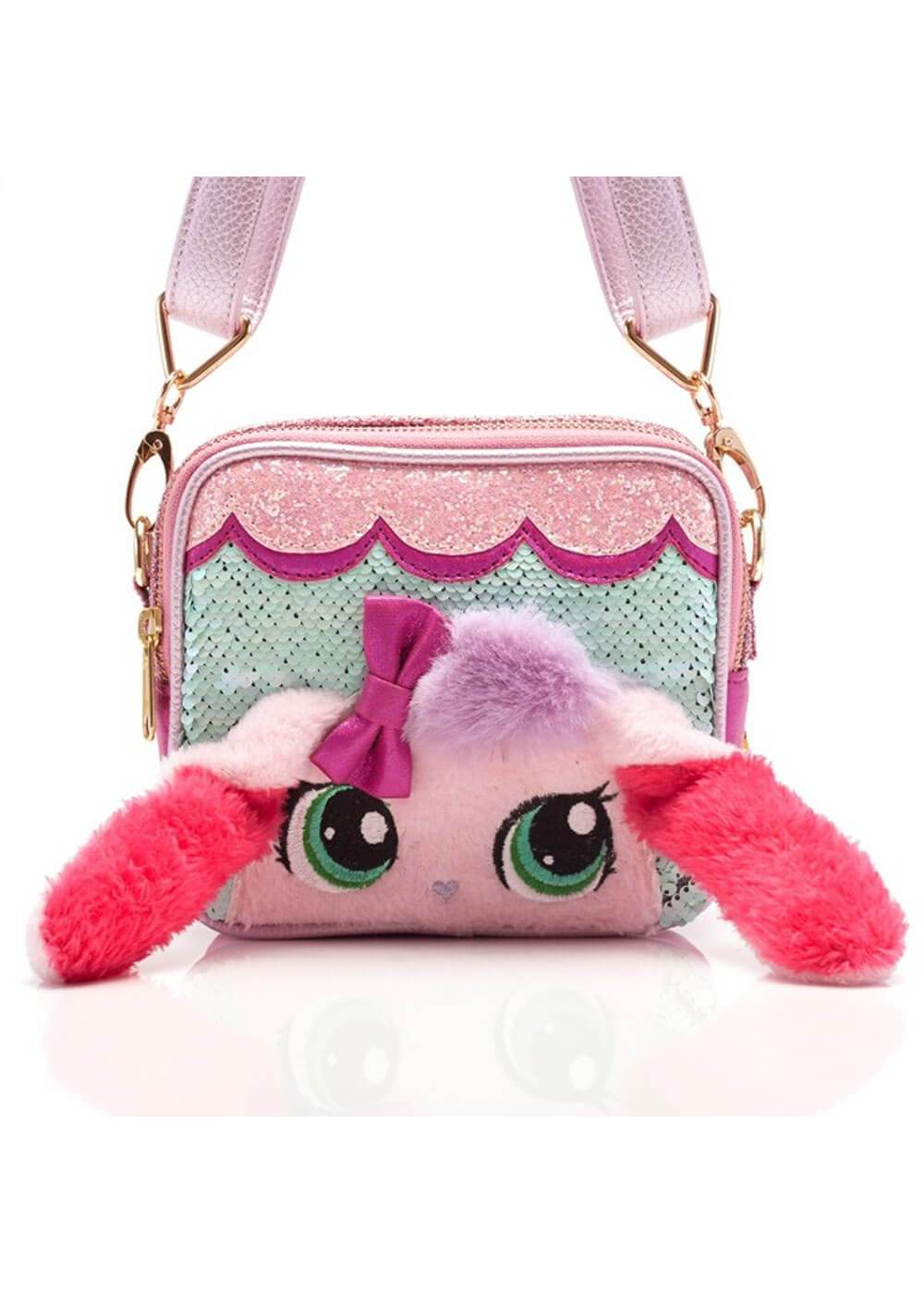 IRREGULAR CHOICE BELLA BUNNY MINT/PINK BELT BAG