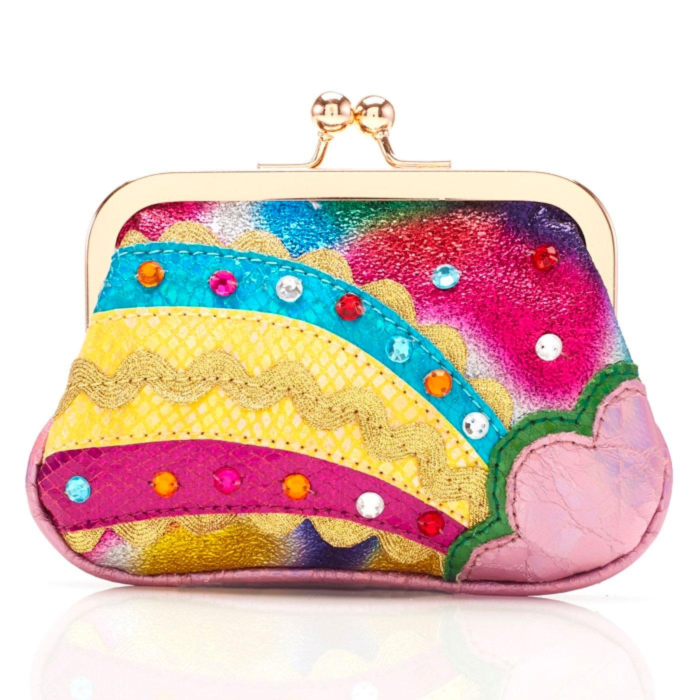 RAINBOW SPLASH RETRO PURSE PINK